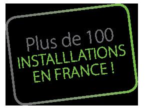 plus de 100 installations en france